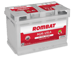 Rombat 110 Stop Start AGM Car Battery Rombat 80Ah