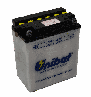 Unibat Motorcycle CB12AASM Unibat Motorcycle Battery