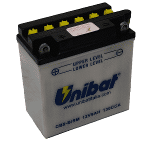 Unibat Motorcycle CB9BSM Unibat Motorcycle Battery