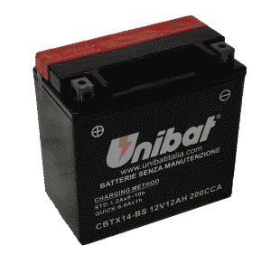 Unibat Motorcycle CBTX14BS Unibat Motorcycle Battery