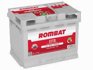 Rombat 027 Stop Start EFB Car Battery Rombat 60Ah