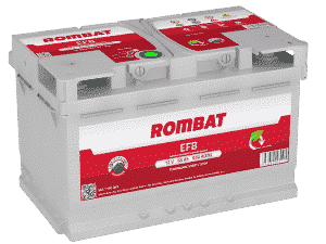Rombat 100 Stop Start EFB Car Battery Rombat 65Ah