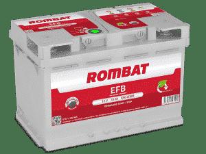 Rombat 096 Stop Start EFB Car Battery Rombat 70Ah 650CCA