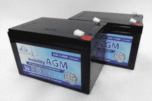 Leoch Leoch 12v 12ah Mobility Battery Twin Pack