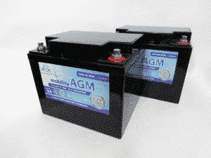 Leoch Leoch 12v 50ah Mobility Battery Twin Pack
